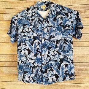 Vintage Hawaiian Shirt by Panama Jack shirt Sz L